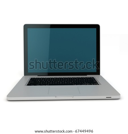 3d laptop notebook isolated on white background