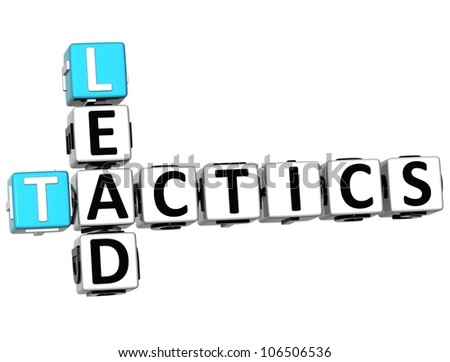 3D Lead Tactics Crossword on white background