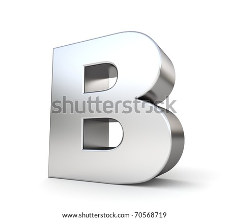 3d letter B from my metal letter collection - stock photo