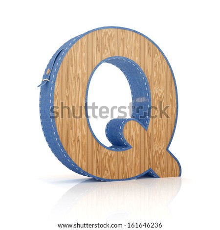3d letter Q from scrapbook alphabet collection isolated on white - stock photo