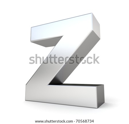 3d letter Z from my metal letter collection