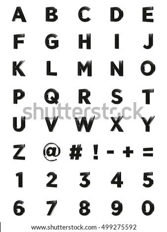 3d letters complete alphabet metal chrome stock - Alphabet complet ...