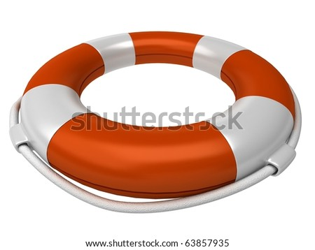 3d life buoy - stock photo