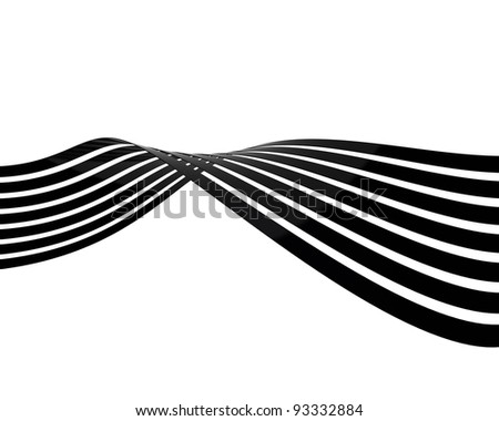 3D Lines background - stock photo