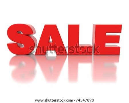 3d logo SALE - stock photo