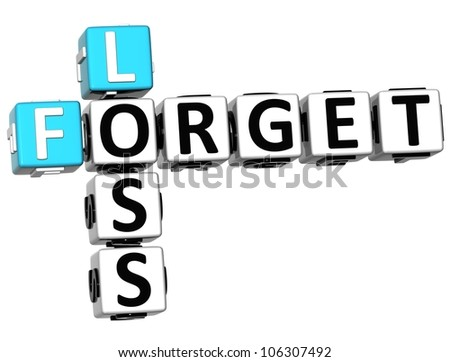 3D Loss Forget Crossword on white background - stock photo