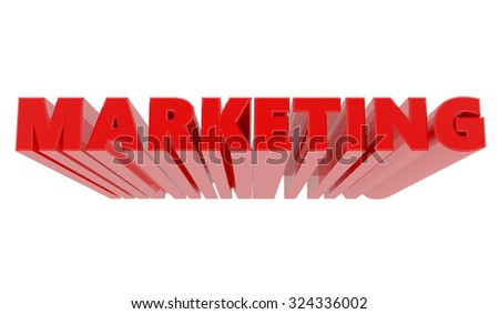 3D MAKETING word on white background - stock photo