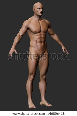 Body free male naked