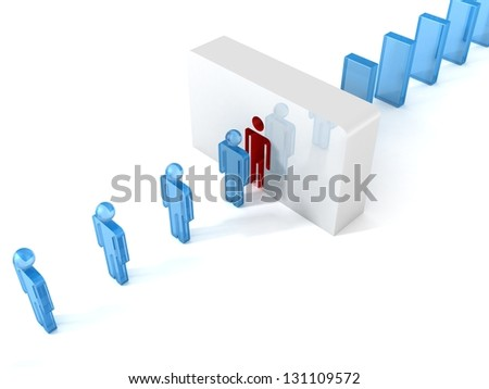 3d man career business conveyor