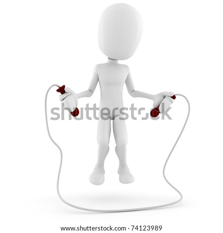 3d man playing, having a good time - stock photo