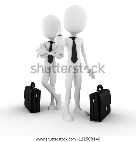 3d man success in business - stock photo