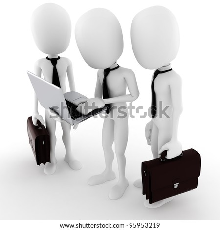 3d man team work, business concept