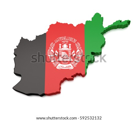 Afghanistan map stock images royalty free images vectors 3d map of afghanistan gumiabroncs Image collections