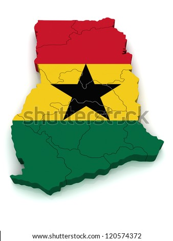 3D Map of Ghana