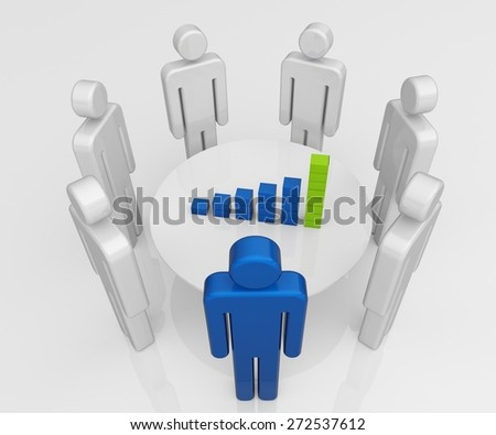 3D. Marketing, Business, Strategy. - stock photo