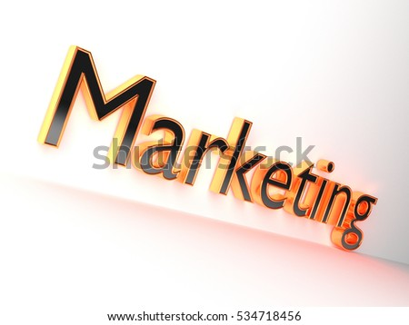 3D Marketing word rendered
