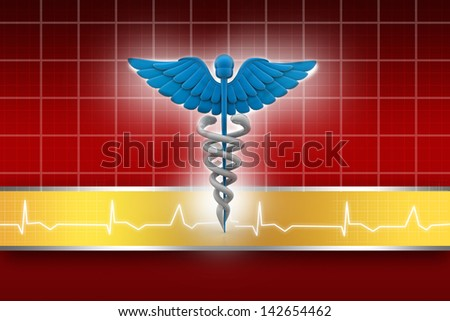 3d medical logo on a abstract  background - stock photo