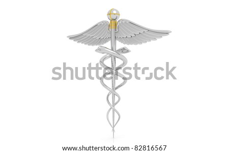3D medical symbol isolated on a white background