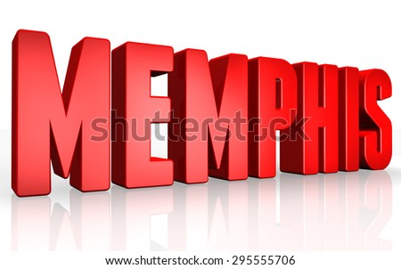 3D Memphis text on white background