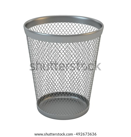 3d mesh bin on white