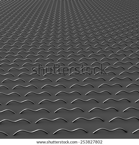 3D metal chain mail repeating background - stock photo