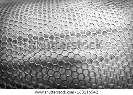 3d metal net background - stock photo