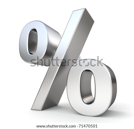 3d metal percent - stock photo
