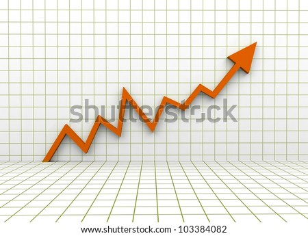 3d metaphor of Busines growth - stock photo