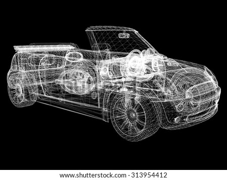 3d model cars  - stock photo