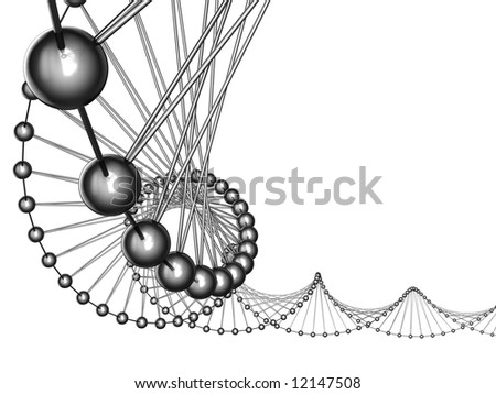 3d model of a genetic code - stock photo
