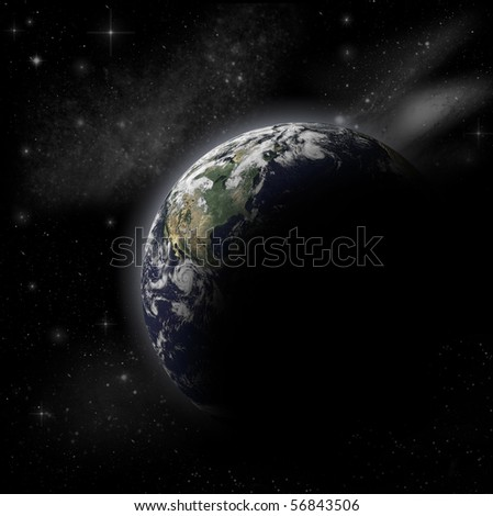 3D Model of Earth Planet.