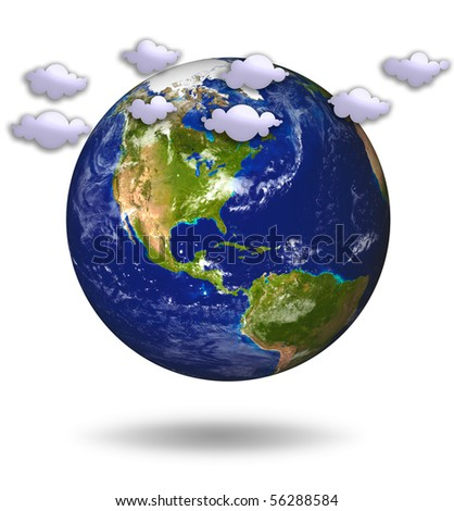 3D Model of Earth Planet. Weather. 1 of 15 illustration