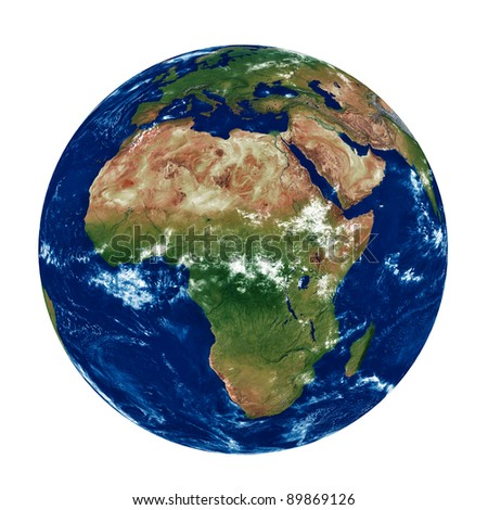 3d model of the earth - stock photo