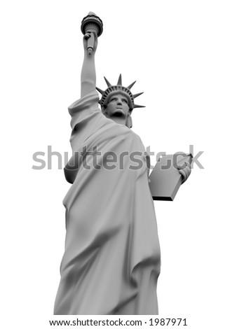 3 d model statue liberty stock illustration 1987971 shutterstock