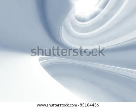 3d modern architecture interior - stock photo