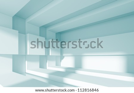 3d Modern Interior Background - stock photo