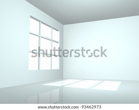 3d Modern Interior - 3d render illustration - stock photo