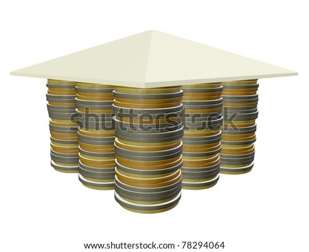 3d mortgage concept 3d rendering - stock photo