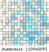 3d mosaic backdrop in shade of near white and blue - stock photo