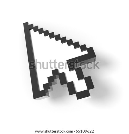 3d mouse icon - stock photo