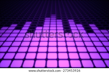 3D. Music, Sound, Sound Mixer. - stock photo