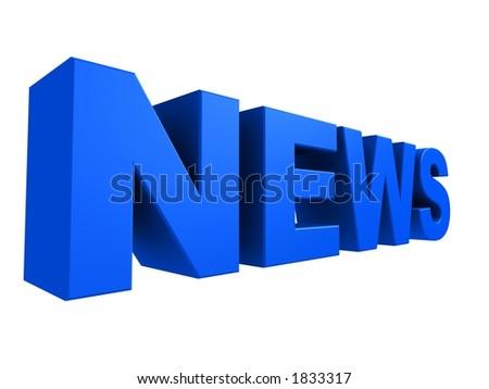 3d news - stock photo