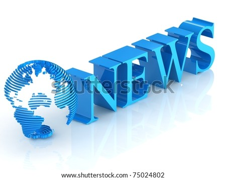 3d  news. - stock photo