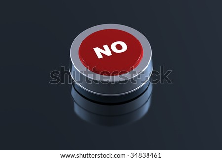 3d no button - stock photo
