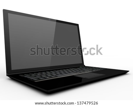 3d notebook - stock photo