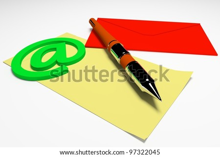 3d office notes concept - stock photo