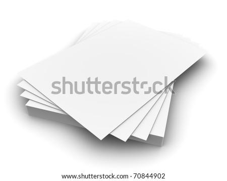 3d Office Paper Concept - stock photo