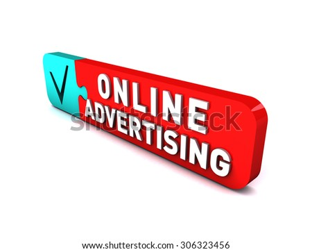 3D Online Advertising - stock photo