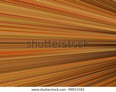 3d orange color abstract striped backdrop render - stock photo
