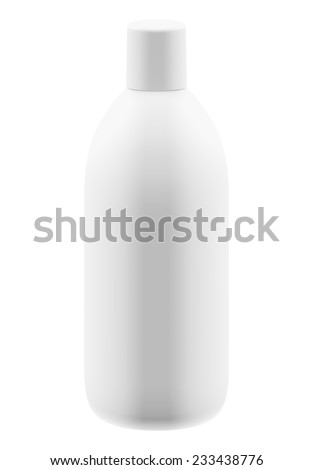3D package gallon side view, isolated - stock photo